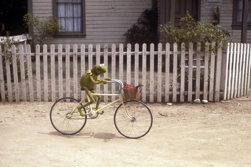 Photo - Kermit the Frog (the late Jim Henson) appears in