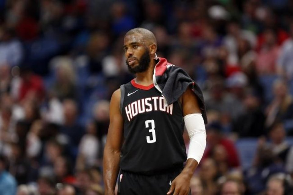 Photo -  Chris Paul averaged 20.9 minutes per game playing alongside MVP guard James Harden in his tenure with the Rockets. [AP Photo/Tyler Kaufman]