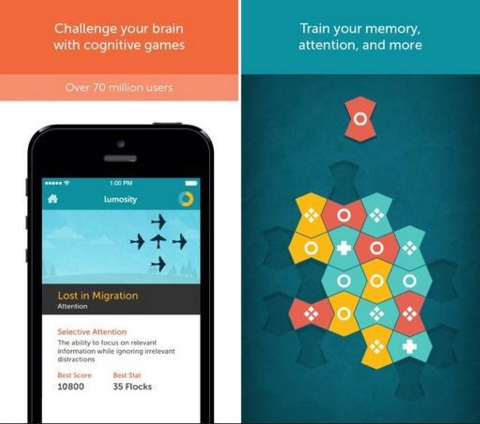 Photo -  Lumosity is one brain-game app that features games designed to help with memory. [photo provided]
