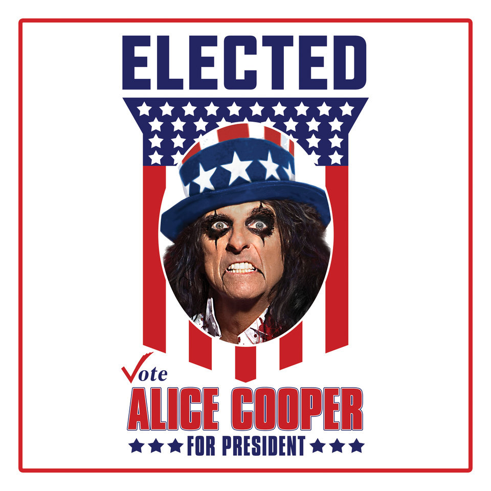 Photo -  Alice Cooper jokingly launched a campaign for president of the United States and prime minster in conjunction of the re-release of