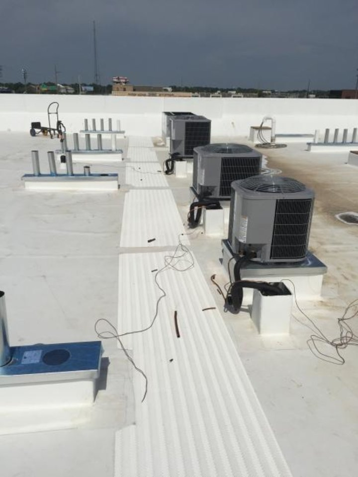 Photo -  HVAC equipment on the roof of the Holiday Inn Express & Suites. [PROVIDED BY THE ROSS GROUP]