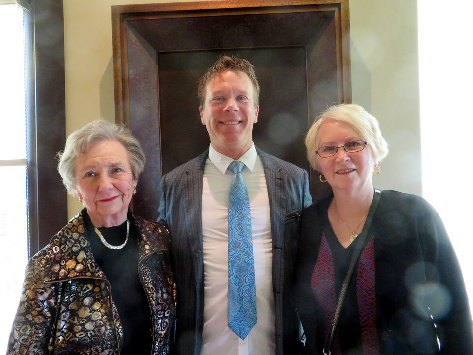 Photo - Sue Francis, Alexander Mickelthwate, Margaret Biggs. PHOTO PROVIDED