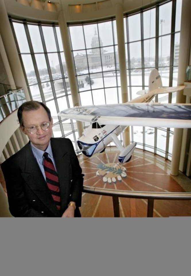 Photo -  In this 2007 photo, Bob Blackburn is seen inside the Oklahoma History Center. [CHRIS LANDSBERGER/THE OKLAHOMAN ARCHIVES]