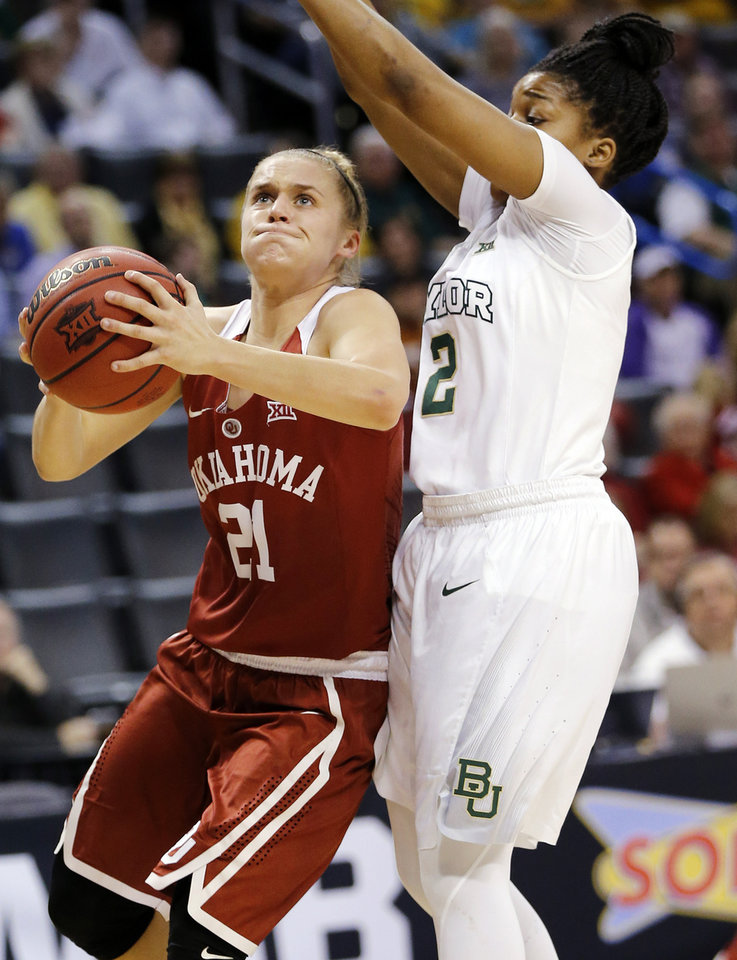 Photo - Oklahoma's Gabbi Ortiz, left, had Purdue in her top-five coming out of high school. (Photo by Nate Billings, The Oklahoman)