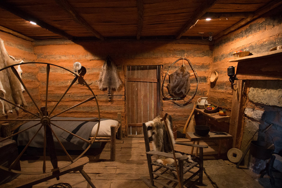 Photo -  A view inside Sequoyah's Cabin at Akins, 10 miles northeast of Sallisaw. [PHOTO PROVIDED BY CHEROKEE NATION]