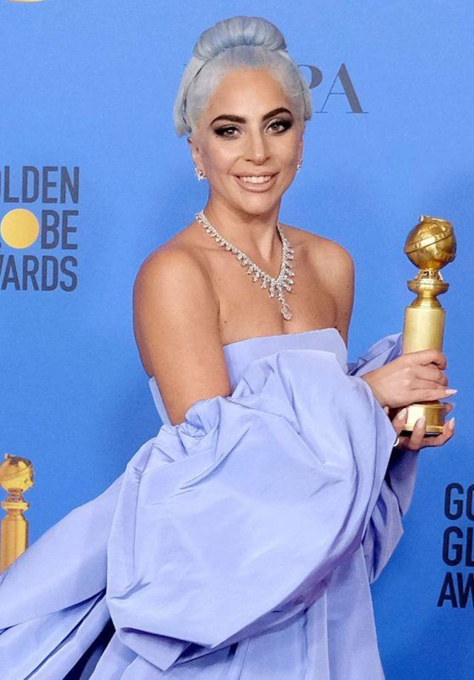 Photo - Lady Gaga at the 76th Annual Golden Globe Awards in January 2019.