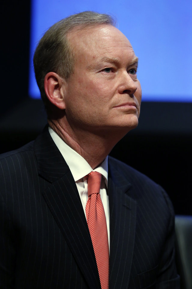Photo - Republican gubernatorial candidate Mick Cornett participates in a forum for candidates at the Oklahoma City Museum of Art on Monday, April 23, 2018 in Oklahoma City, Okla.  Photo by Steve Sisney, The Oklahoman