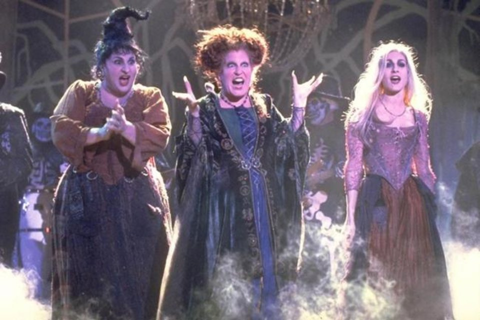 Photo -  From left, Kathy Najimy, Bette Midler and Sarah Jessica Parker star in the Halloween favorite film