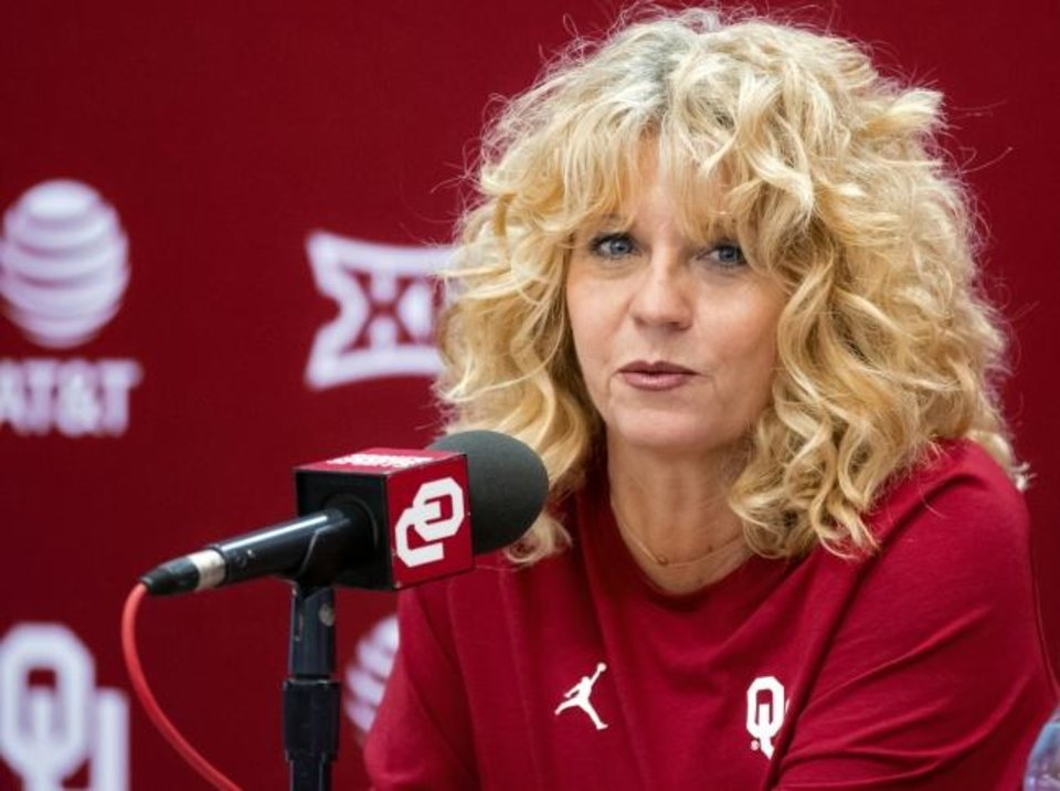 Photo -  OU women's basketball coach Sherri Coale and her Sooners posted their biggest win of the season Saturday with an 90-68 rout over No. 25 LSU at the Lloyd Noble Center in Norman. [Chris Landsberger/The Oklahoman]