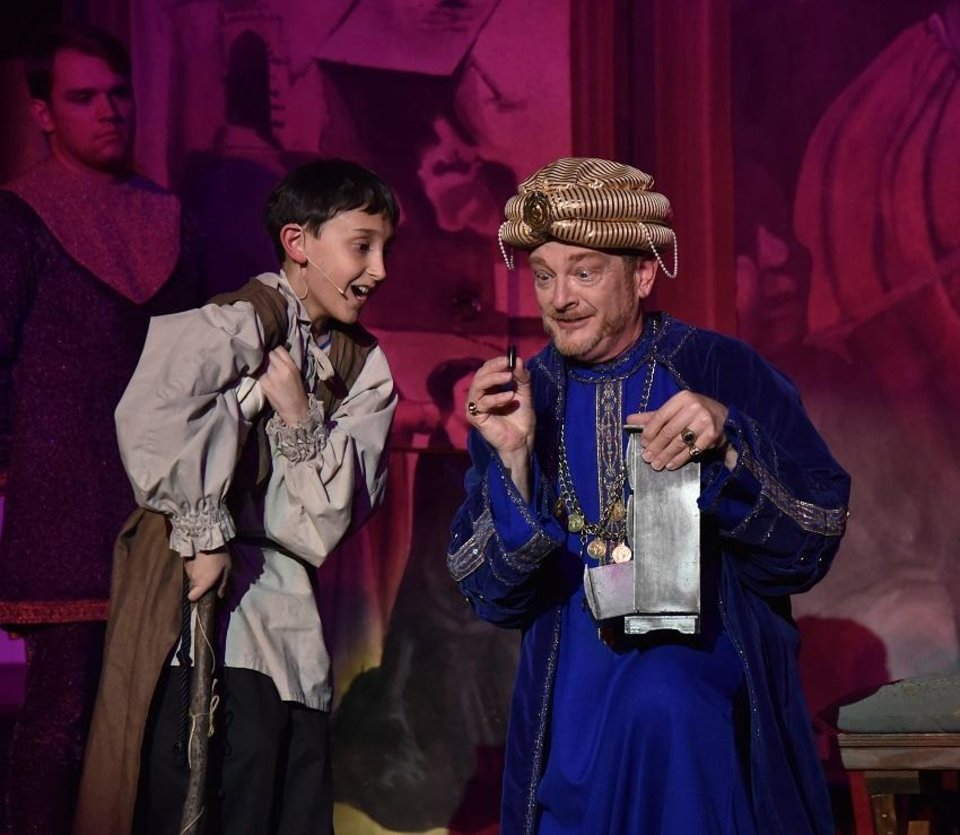 Photo - Austin Rindler plays Amahl and Mark Johnson plays Kaspar in Painted Sky Opera's 2018 production of the Christmas classic