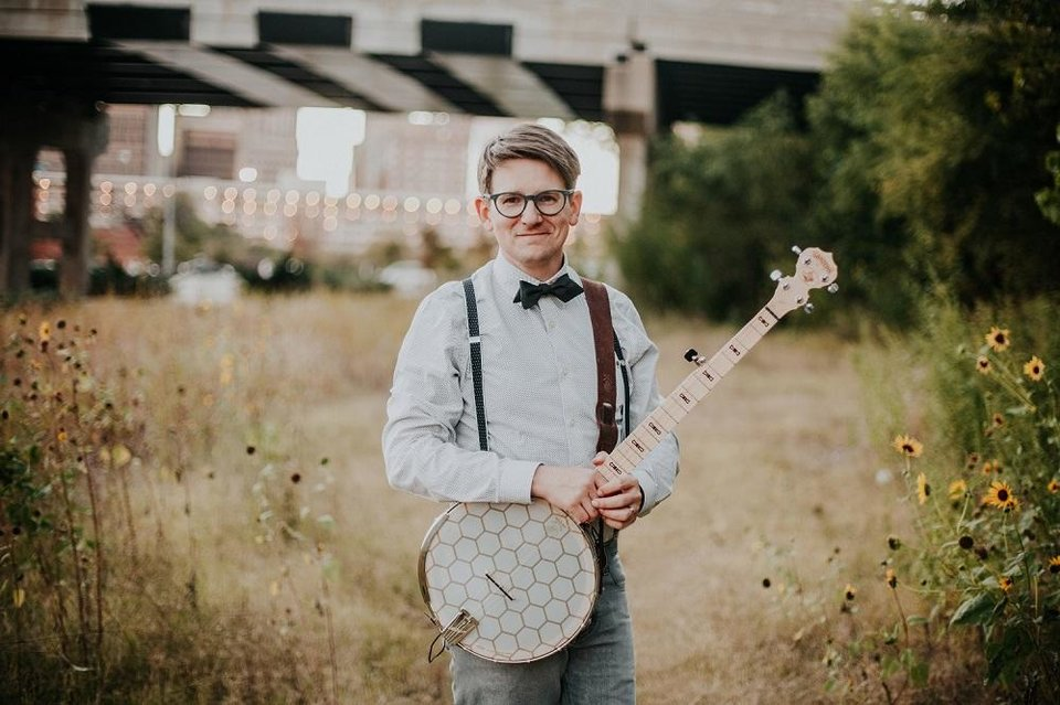 Photo - Lucas Ross, community outreach and promotions coordinator for the American Banjo Museum, is performing live-stream concerts for children as part of the museum's