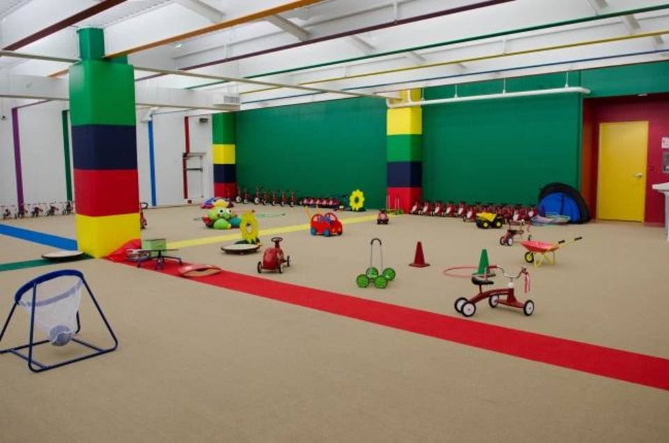 Photo -  An indoor play area at Chesapeake Energy's child development center. [PROVIDED BY CHESAPEAKE ENERGY]