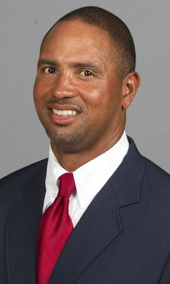 Photo - OU defensive line coach Diron Reynolds has reportedly accepted the same position at Stanford. PHOTO PROVIDED