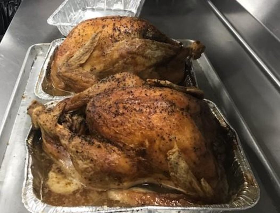 Photo -  Fresh turkey was made by student and faculty from the Francis Tuttle School of Culinary Arts in support of The Homeless Alliance. [provided]