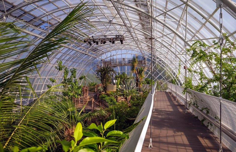 Photo - The Crystal Bridge Tropical Conservatory at the Myriad Botanical Gardens in Oklahoma City, Okla., is shown on Thursday, Aug. 20, 2020. [Chris Landsberger/The Oklahoman Archives]