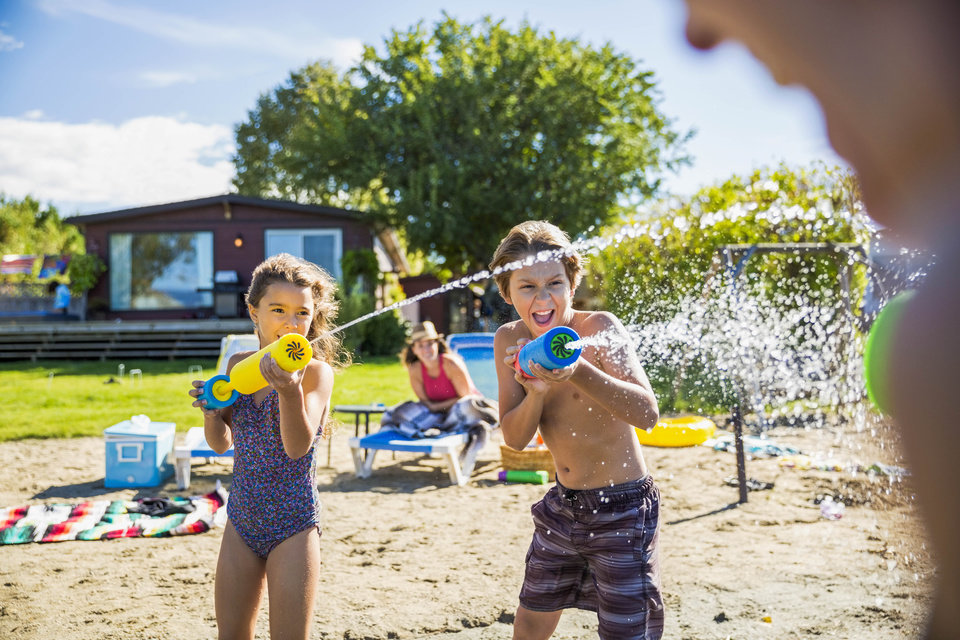 Photo -  Our etiquette panel shares tips for handling children misbehaving at the beach. [File art/Metro Creative Connection]