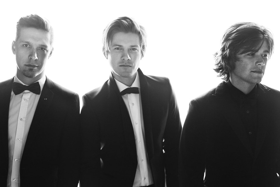 Photo - From left, Hanson is Isaac, Taylor and Zac Hanson. [Photo provided by Jiro Schneider]