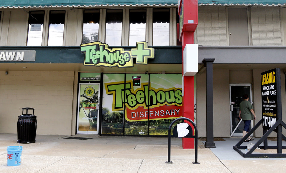 Photo -  Treehouse Dispensary's storefront is shown in Tulsa. [JOHN CLANTON/TULSA WORLD]