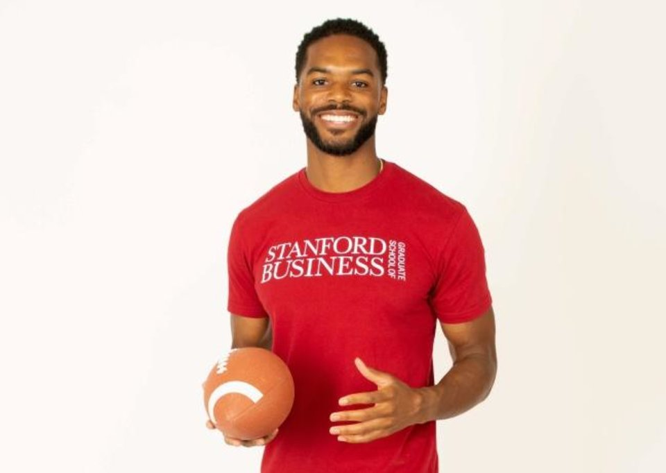 Photo -  Former Oklahoma State defensive back Devin Hedgepeth was recently accepted into the Stanford Graduate School of Business, the most prestigious business school in the country. [Photo provided]