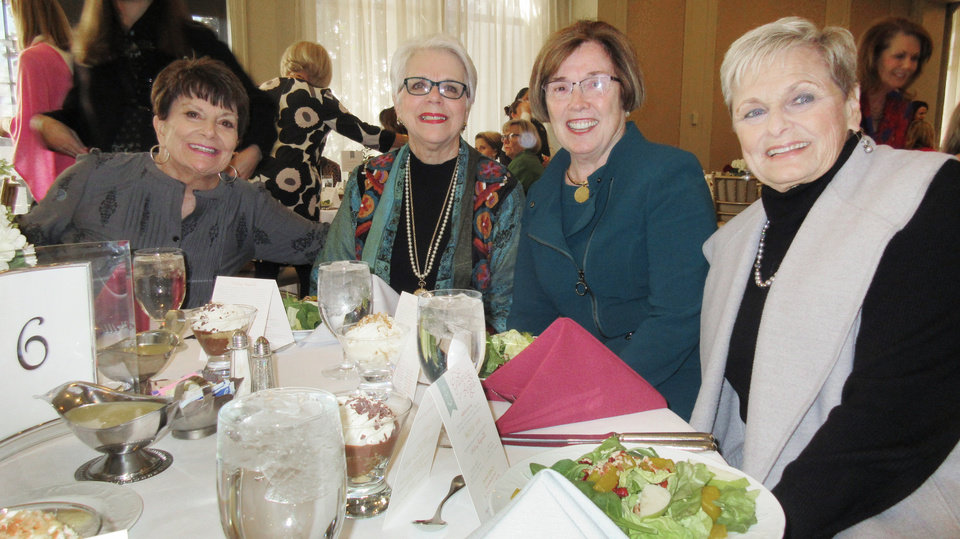 Photo -  Carole Hill, Jayne Henline, Bette MacKellar and Brenda Bodenheimer. [PHOTO BY HELEN FORD WALLACE, THE OKLAHOMAN]