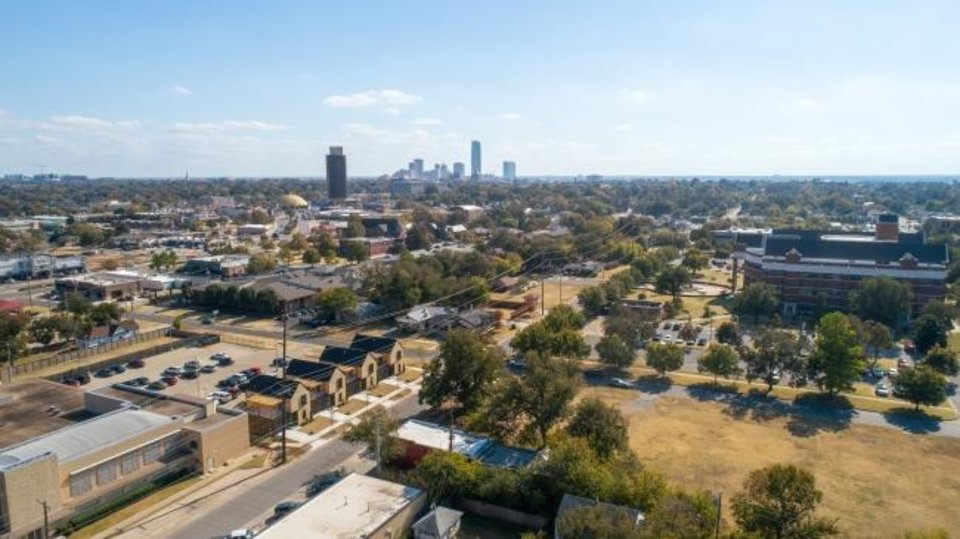Photo -  Area view of McKinley Row, lower left, showing part of the Asian District and downtown.  [SAGE SOTHEBY'S INTERNATIONAL REALTY]