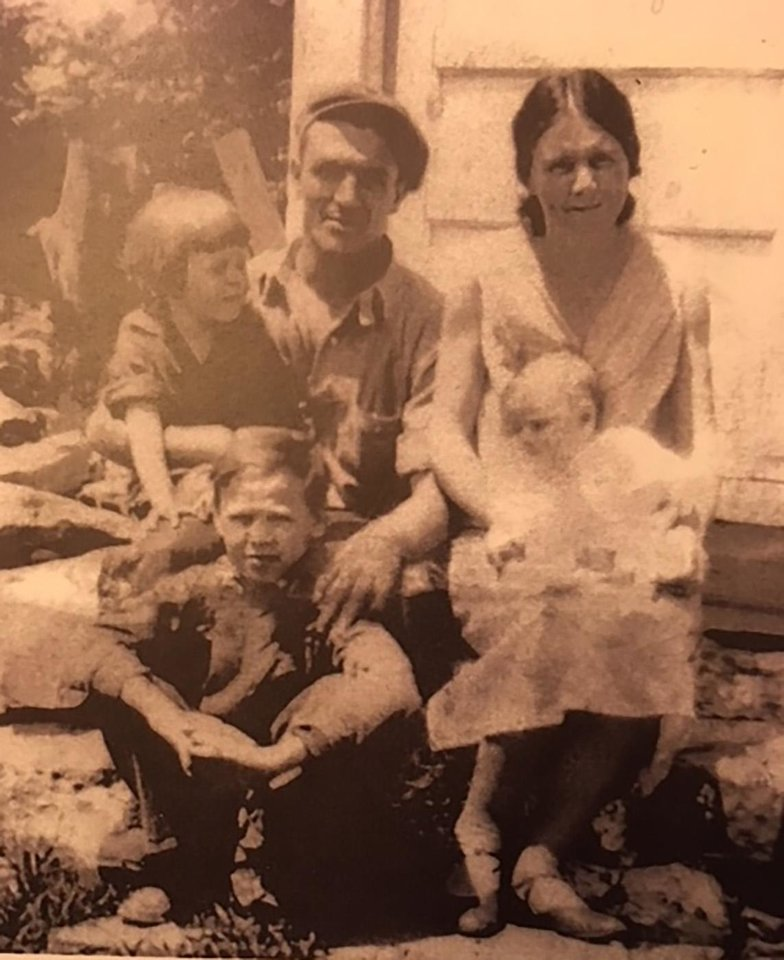 "Photo -  Columnist Jim Priest's grandfather, ""Grandpa Tom,"" Thomas Priest, is pictured with his wife, Margaret, and three children, Teddy, Peggy and Tom. [PHOTO PROVIDED]"