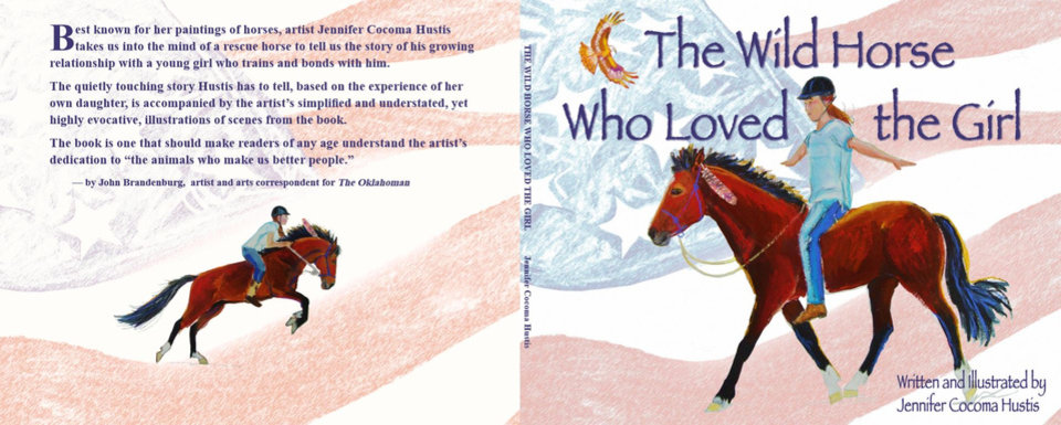"Photo -  Jennifer Cocoma Hustis wrote and illustrated this 2018 book called ""The Wild Horse Who Loved the Girl."" [Photo provided]"