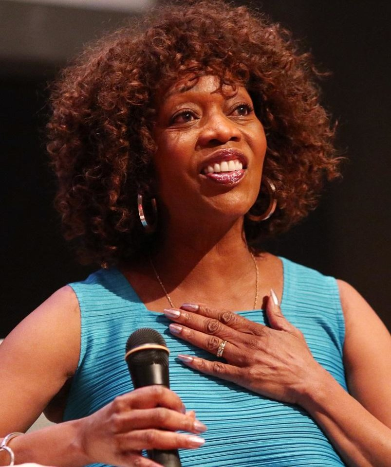 Photo - Alfre Woodard, one of the deadCenter Film Festival's 2018 Oklahoma Film Icon Award winners, talks about her life as part of deadCenter in downtown Oklahoma City, Saturday, June 9, 2018. [Doug Hoke/The Oklahoman Archives]