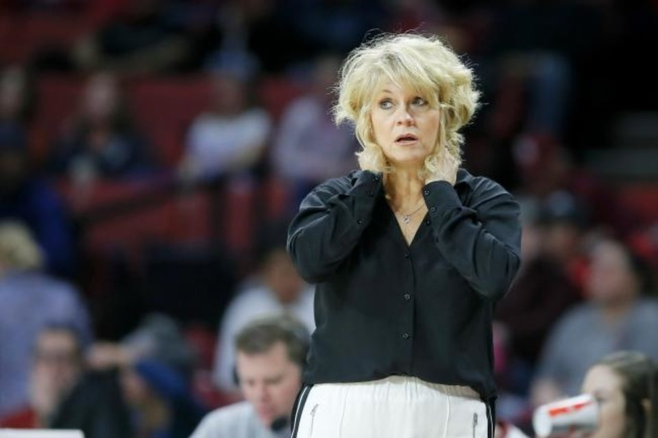 Photo -  Sherri Coale, whose contract runs through 2024, has 501 wins and three Final Four appearances since becoming OU's women's basketball coach in 1996. [Bryan Terry/The Oklahoman]