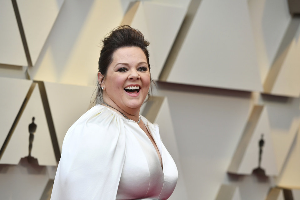 Photo -  Melissa McCarthy arrives at the Oscars on Sunday, Feb. 24, 2019, at the Dolby Theatre in Los Angeles. (Photo by Jordan Strauss/Invision/AP)