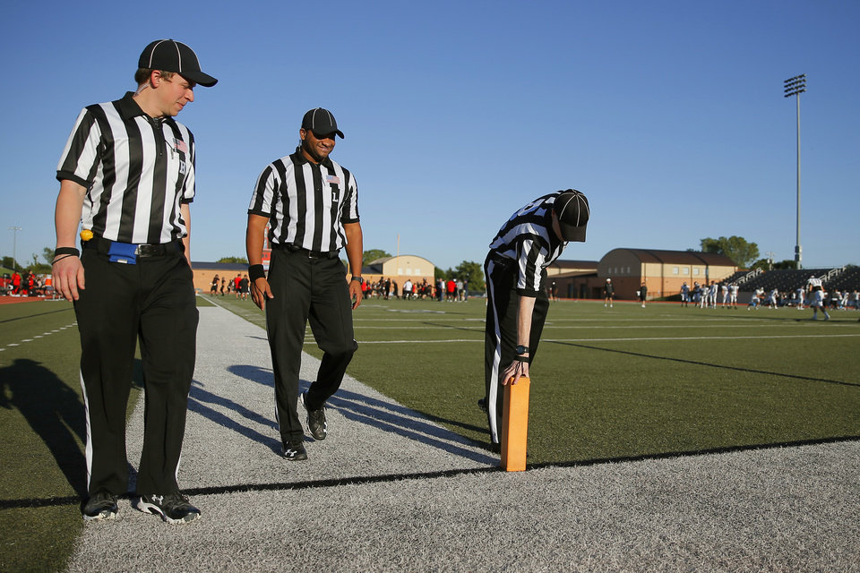 d8e28dbd9 MEN IN STRIPES  High school officials call the game for fun