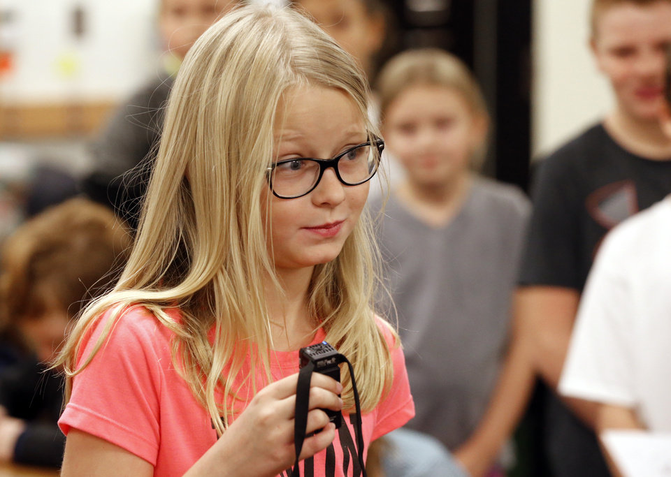 South Lake Elementary students practice for a spelling bee