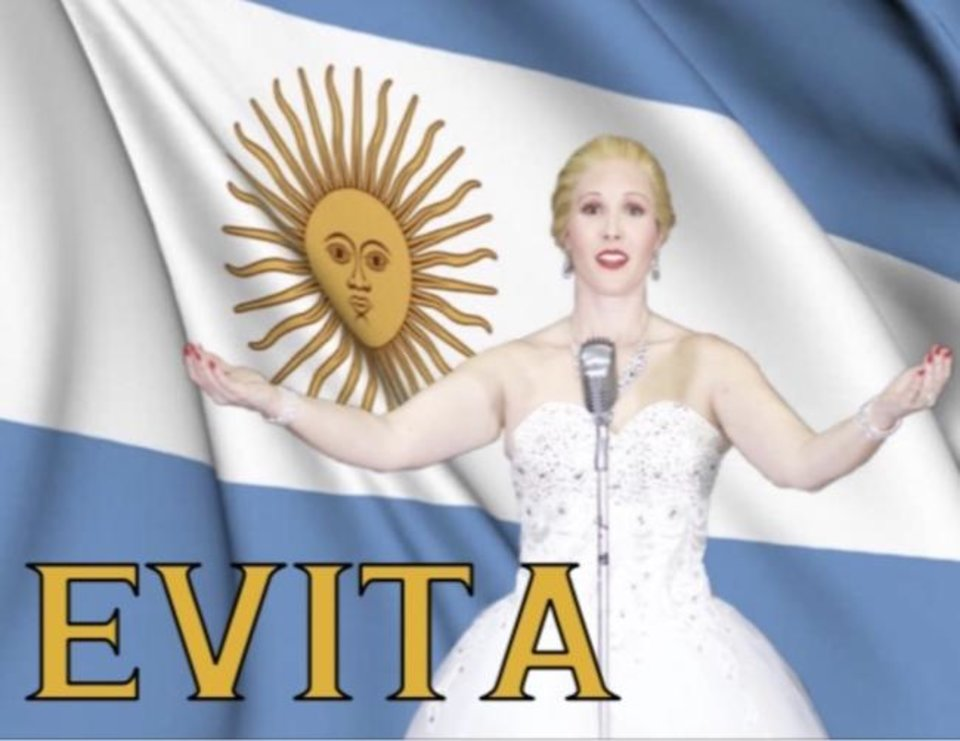 Photo -  Jenny Rottmayer is starring as Argentine political leader Eva Peron in Upstage Theatre and Performing Arts Studio's June production of the musical