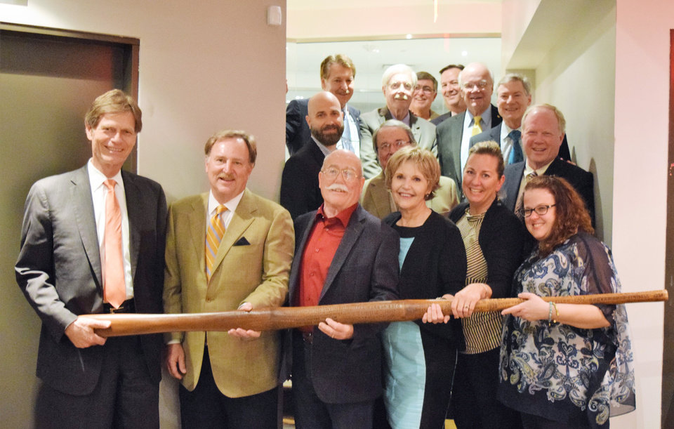 Photo -  Jim Vogt, Leo Portman, Randall Stoner, Bev Woodrome, Sundy Corbin, Rachael Weber, front; Jon Pennington, Jay Engelbach, Fletcher Williams, center; Dr. Mark Hanstein, Lucien Jones, Terry Vanlandingham, John Martin, Bill Warren and Kyle McLain, back. PHOTO PROVIDED