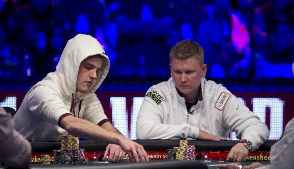 Photo - Ben Lamb, right, at the World Series of Poker.  Courtesy WSOP.