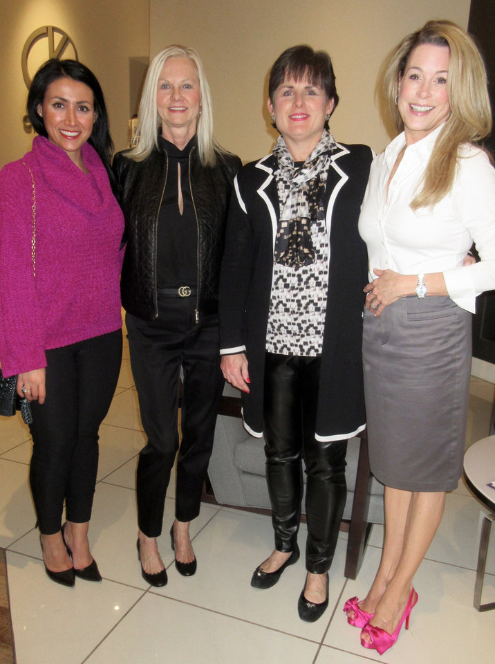 Photo -  Sheena B. Karami, Jane Webb, Shelly Soliz, Christi Coyle. PHOTO BY HELEN FORD WALLACE