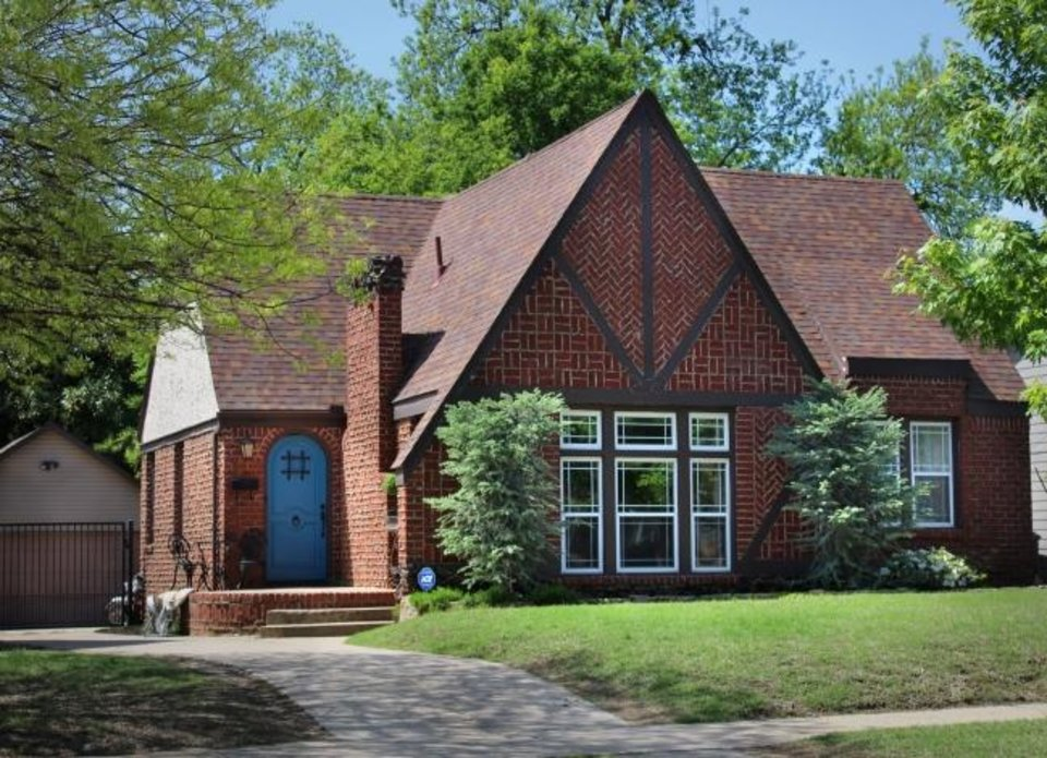 Photo -  The 1929 Tudor Revival at 2616 NW 13, owned by Kara Bowes, will be on the Miller in May Home Tour Sunday. [PHOTO PROVIDED]