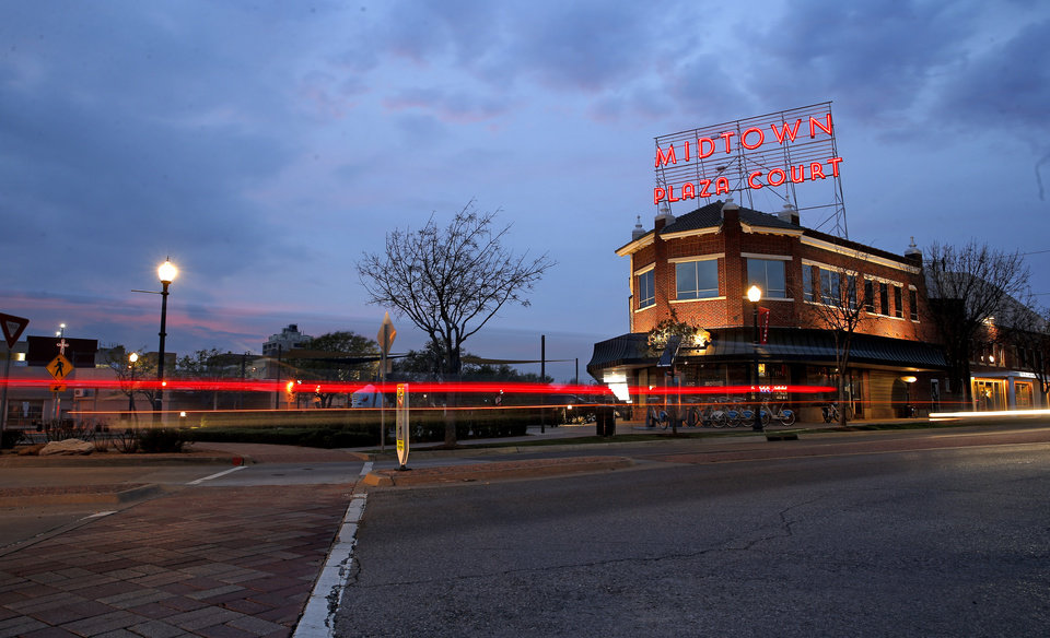 Photo - James E. McNellie's Public House  is pictured in Midtown in Oklahoma City,  Okla., Friday, March 27, 2020.  [Sarah Phipps/The Oklahoman]