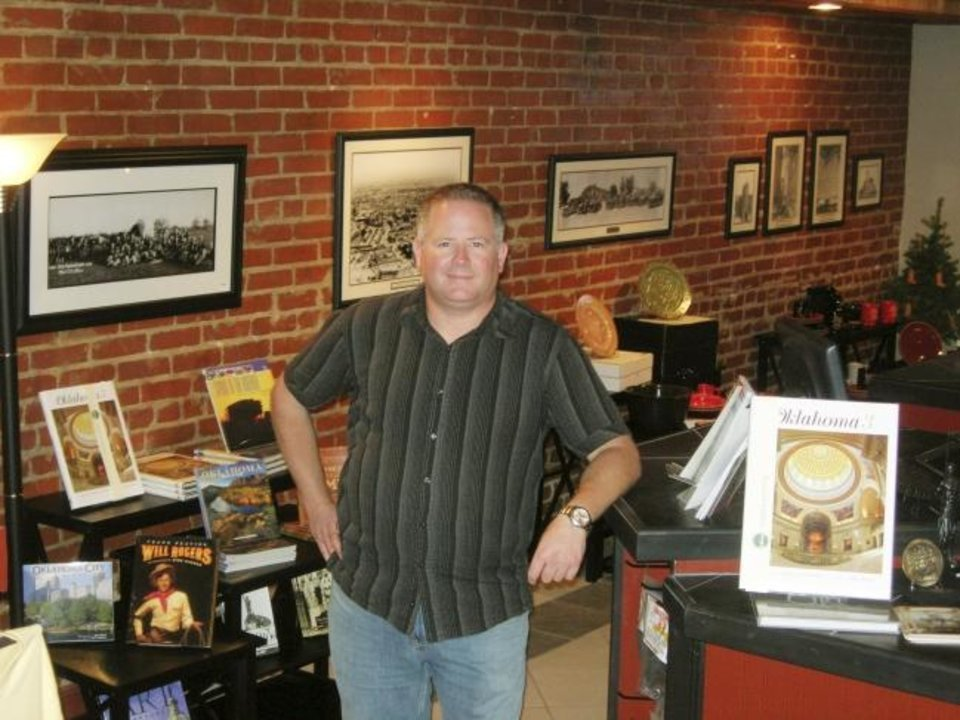 Photo -  When Chad Huntington, shown in this 2007 photo, sought to open a gift shop selling only items made in Oklahoma or featuring Oklahoma artists, he was backed by his boss Bob Bekoff, who invested in multiple ventures in the entertainment district before he died in October.  [STEVE LACKMEYER/THE OKLAHOMAN]