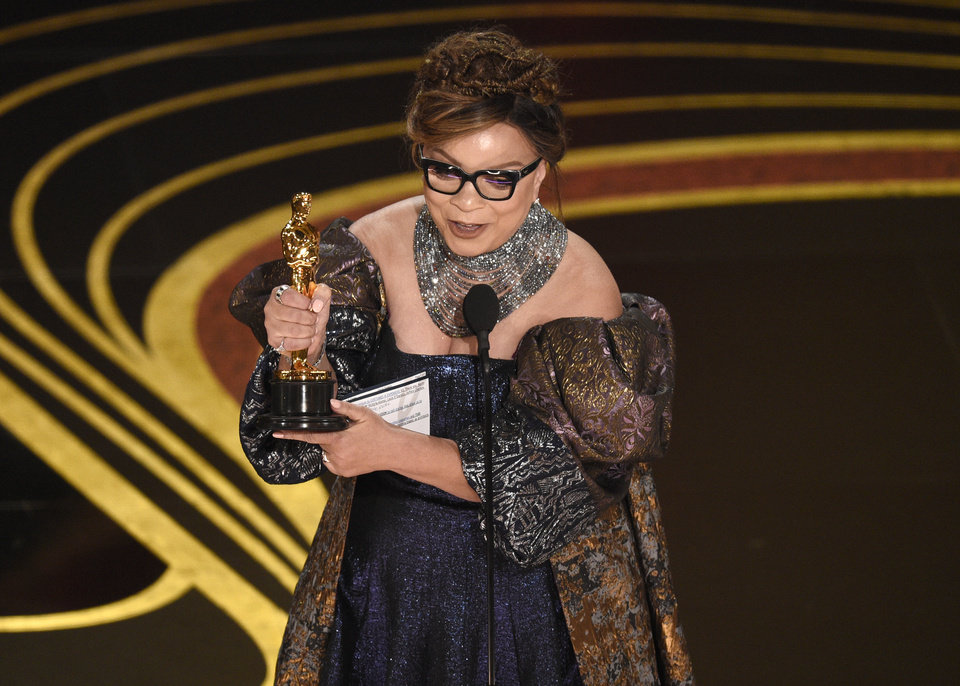 Photo -  Ruth E. Carter accepts the award for best costume design for