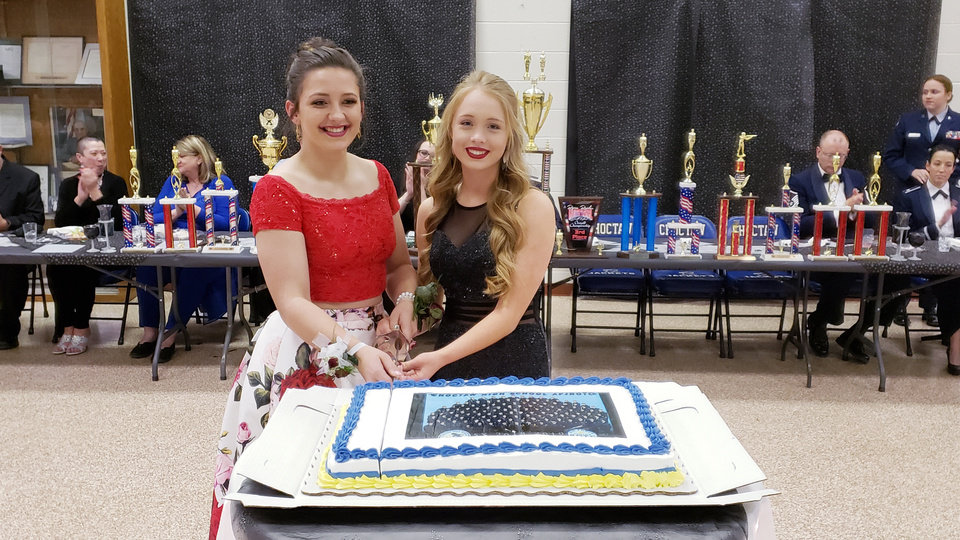 Photo - C/Col Kaci Bailey and C/AB Kaylee Bjorkley. PHOTO PROVIDED