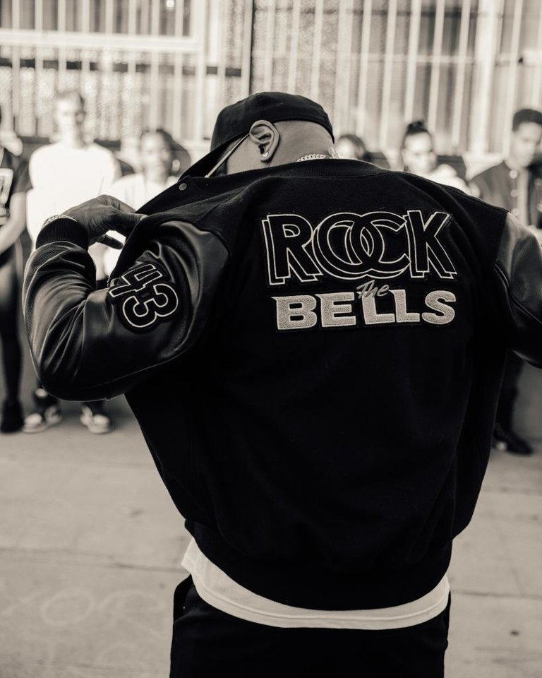 Photo - LL Cool J wears a varsity jacket from the new Rock the Bells collection.