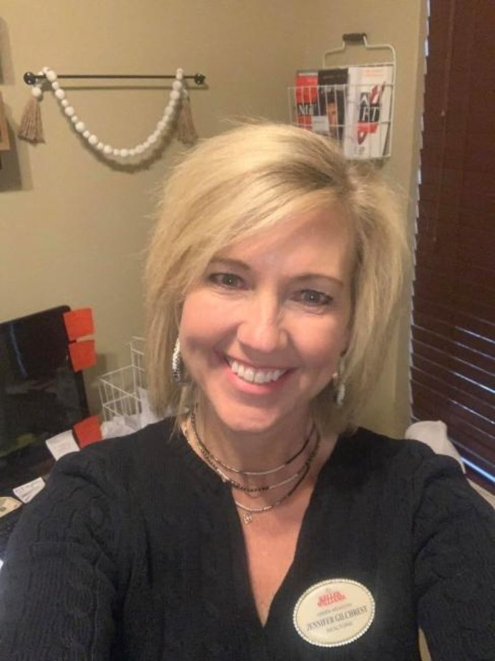 Photo -  Jennifer Gilchrest, with Keller Williams Realty Green Meadow, 1624 SW 122, is doing most of her work at home because of the coronavirus. [PHOTO PROVIDED]