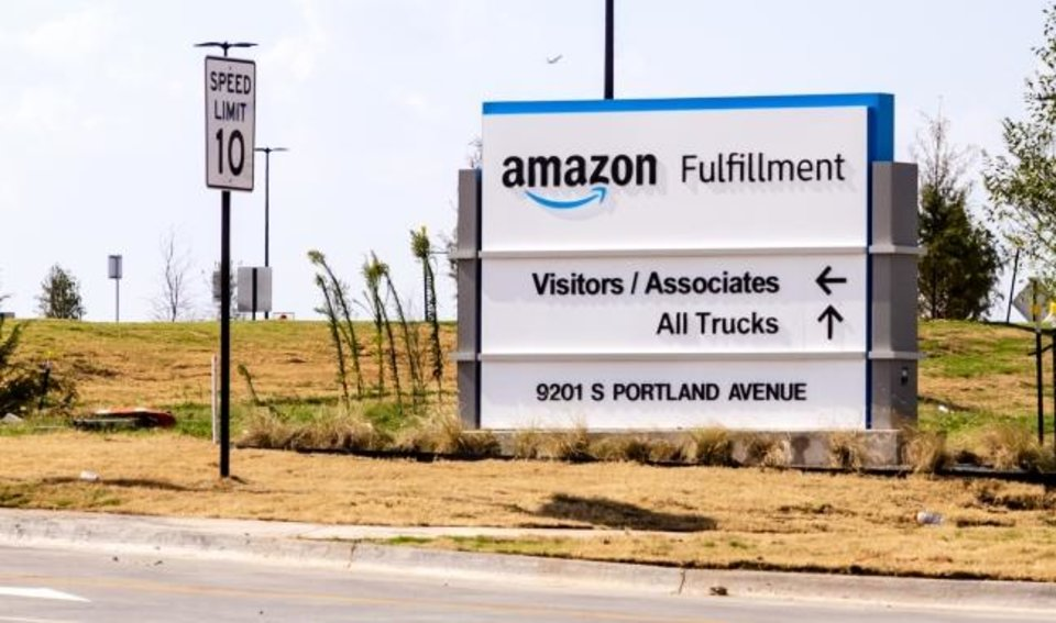 Photo -  The Amazon Fulfillment facility is shown Monday at 9201 S. Portland Ave. in Oklahoma City  [CHRIS LANDSBERGER/THE OKLAHOMAN]
