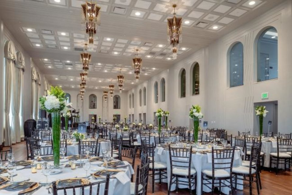 Photo -  The ballroom at the Hilton Curio Hotel after the Tulsa Club's renovation. [PROVIDED BY THE ROSS GROUP]