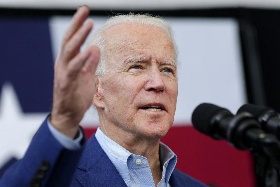Photo - Democratic presidential candidate former Vice President Joe Biden speaks during a campaign rally Monday, March 2, 2020, at Texas Southern University in Houston. (AP Photo/Michael Wyke)