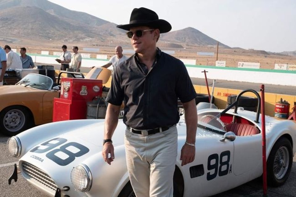 Photo -  Matt Damon portrays car designer Carroll Shelby in the fact-based race film