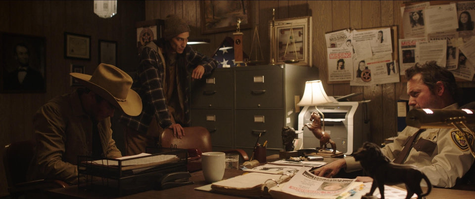 "Photo -  From left, Graham Phillips, Tokala Black Elk and Mike McColl appear in a scene from the topical, modern-day Western ""The Bygone."" Co-written and directed by brothers Parker and Graham Phillips and filmed in Oklahoma, it is showing at the 2019 deadCenter Film Festival. [Photo provided]"