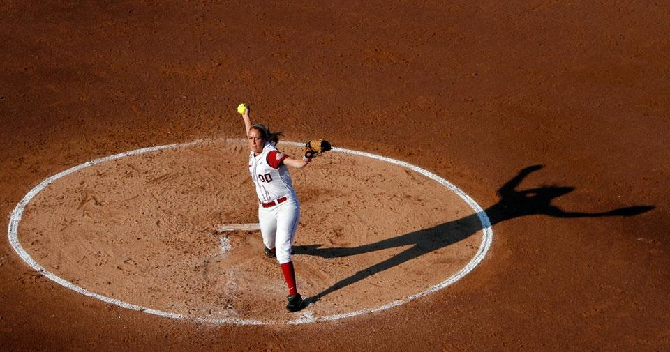 Photo -  Alabama's Kelsi Dunne (00) pitches during the Women's College World Series game between Baylor and Alabama at the ASA Hall of Fame Stadium in Oklahoma City, Friday, June 3, 2011. Photo by Sarah Phipps, The Oklahoman
