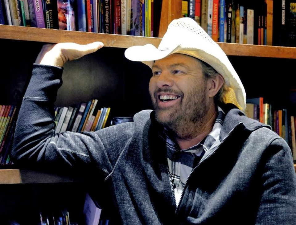 Photo - Toby Keith is interviewed at his Toby Keith Foundation's OK Kids Korral on Thursday, Nov. 8, 2018. [The Oklahoman Archives]
